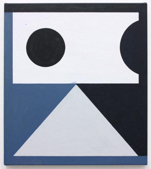 David Webb Galata (Blue) 2019 Acrylic on canvas 46 x 41 cm