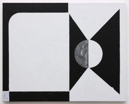 David Webb Kakopetria (Black) 2019 Acrylic on canvas 41 x 51 cm