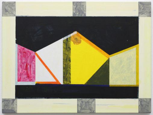 David Webb Kissonerga Nocturne 2017 Acrylic and pumice on paper 21.5 x 26.5 cm