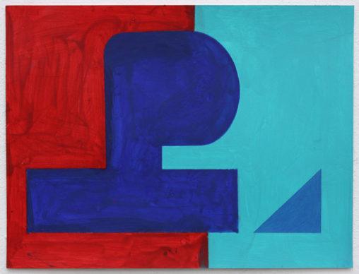 David Webb Papa (Red) 2016 Acrylic on paper 21 x 28 cm