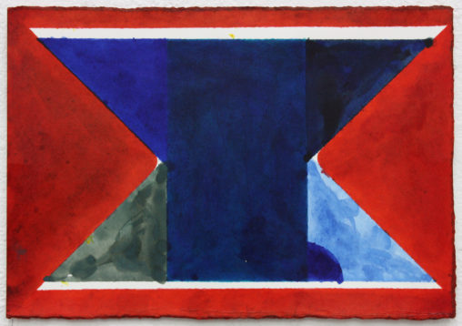 David Webb Rue du Pluton (Blue) 2019 Ink on paper 12 x 17.5 cm