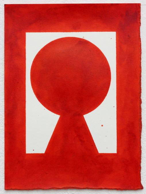 David Webb Rue du Pluton (Red) 2019 Ink on paper 17 x 12.5 cm